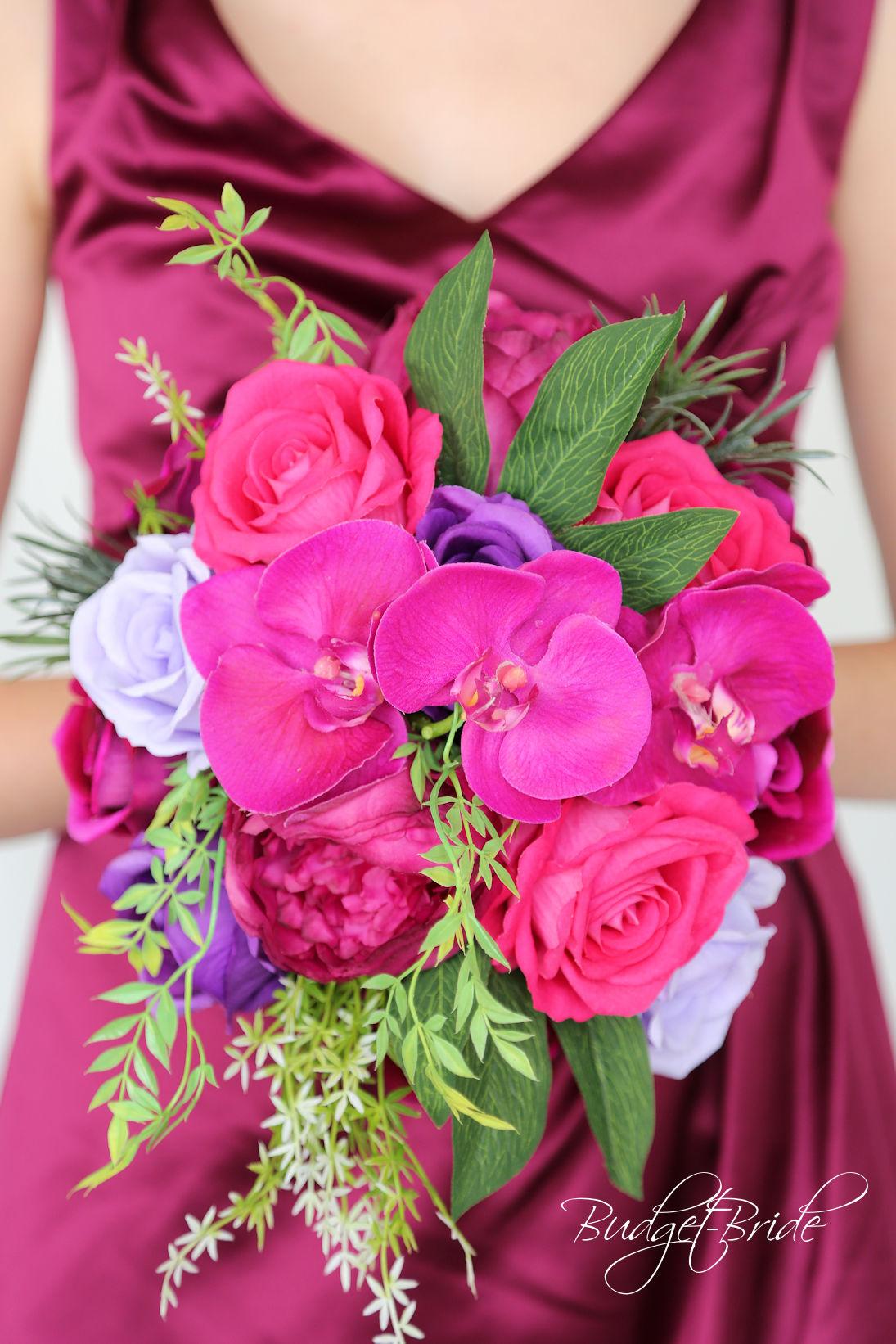 sangria wedding bouquets photo - 1