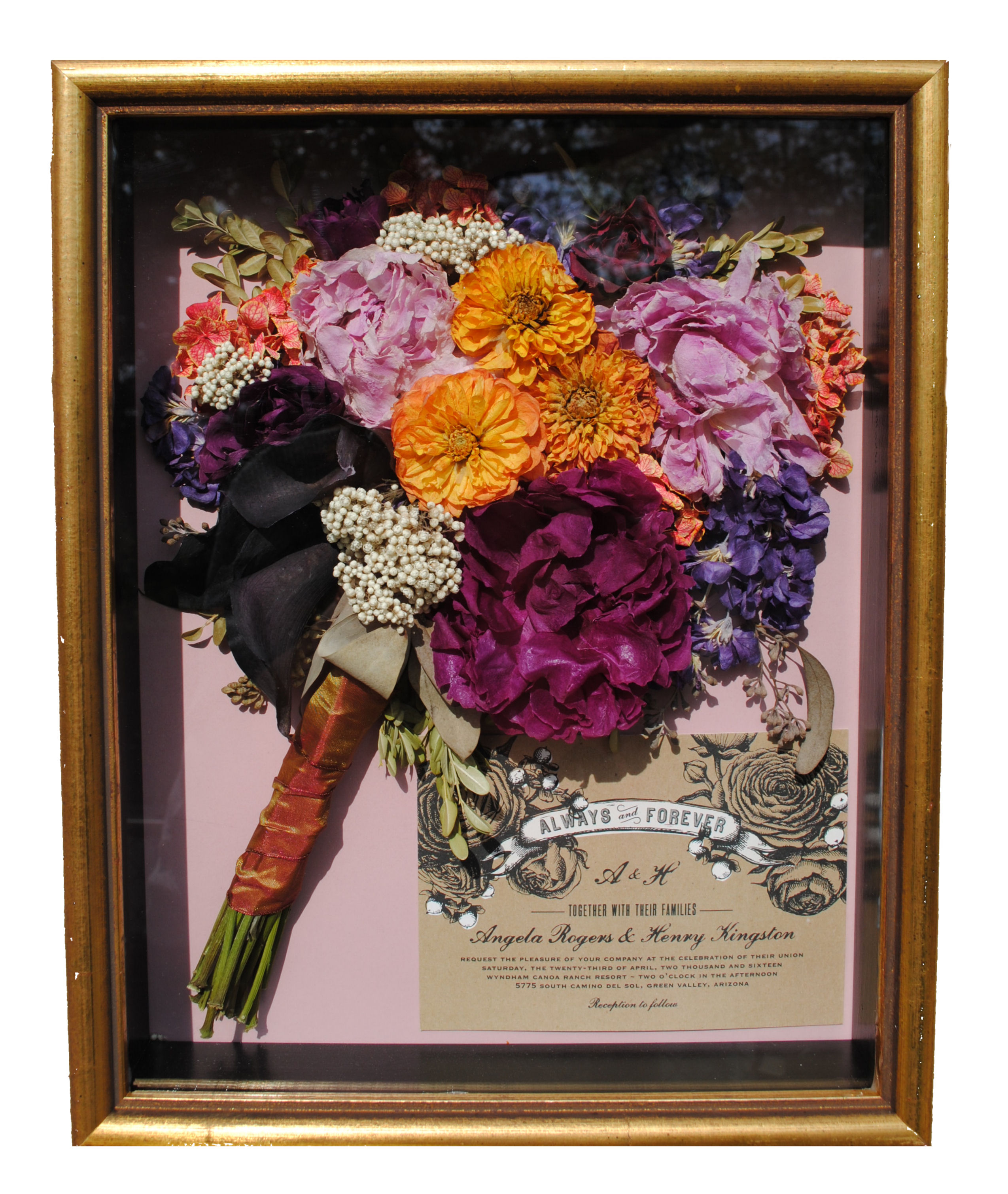 shadow box for wedding bouquet photo - 1