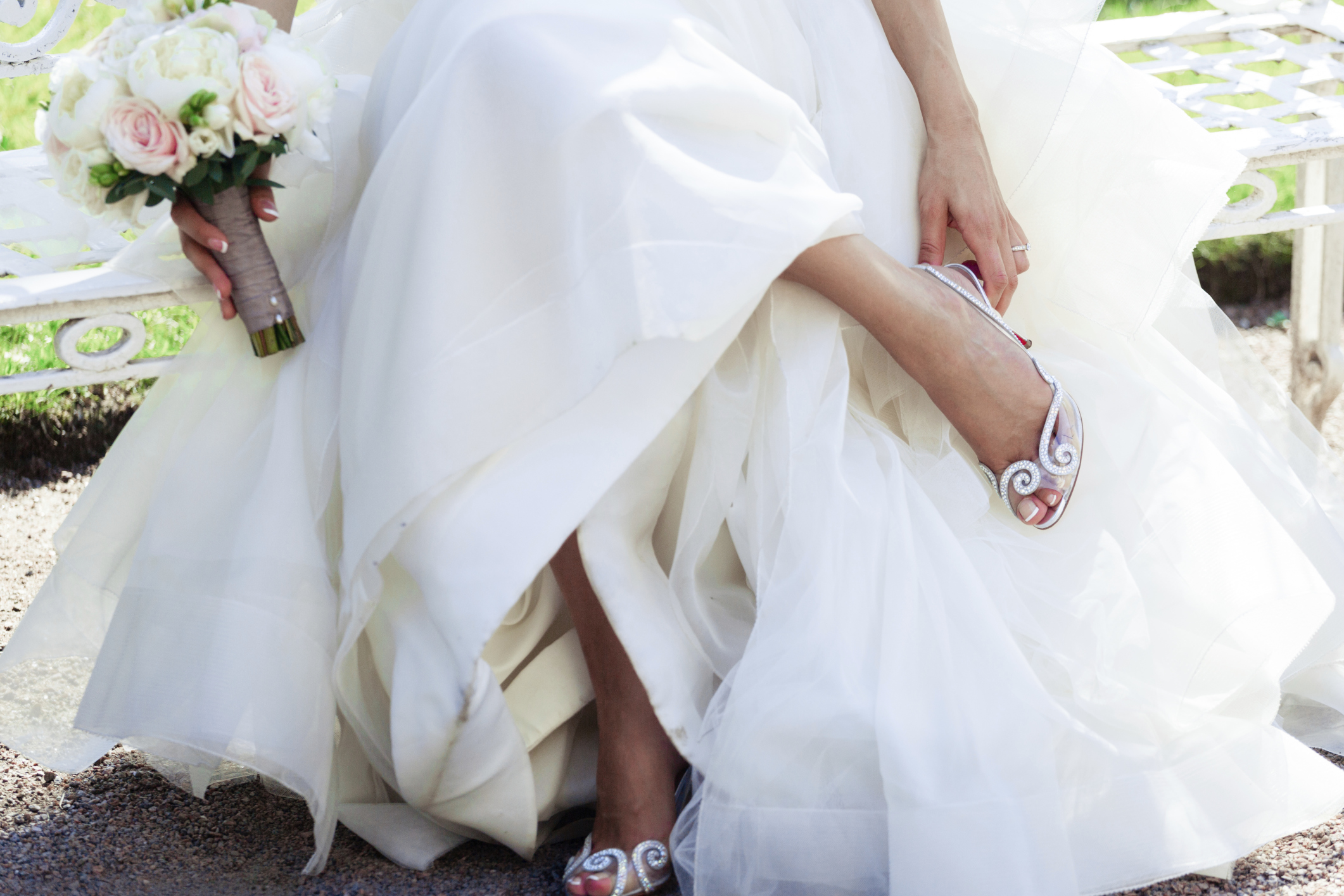 shoes for wedding gown photo - 1
