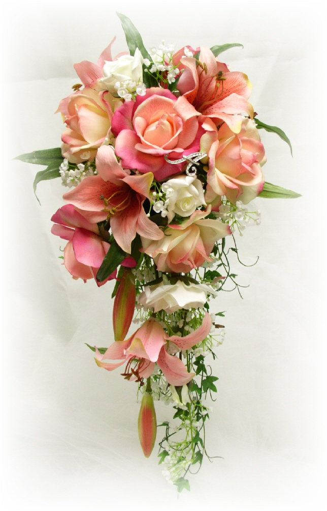 silk bridal bouquets photo - 1
