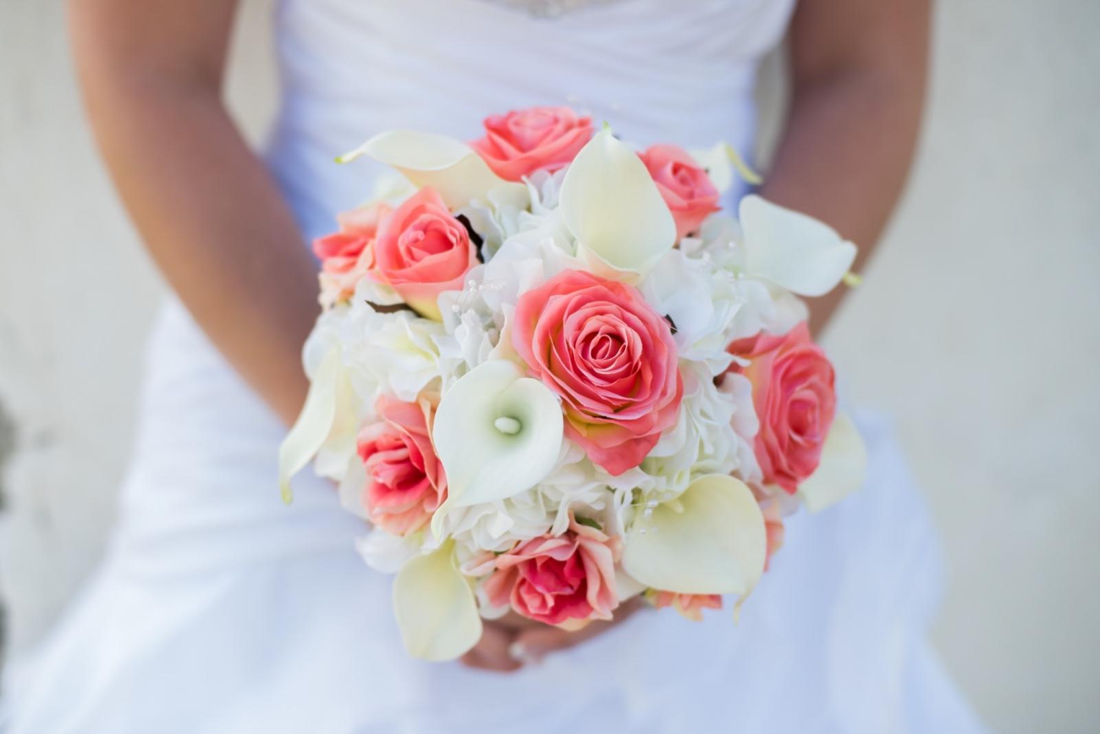 silk calla lily wedding bouquets photo - 1
