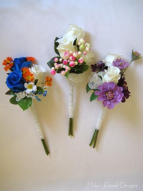 silk flower bridal bouquets photo - 1
