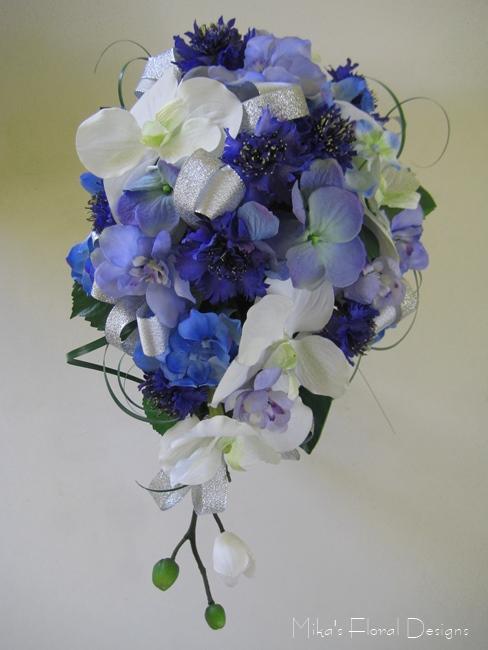 silk flower wedding bouquets photo - 1
