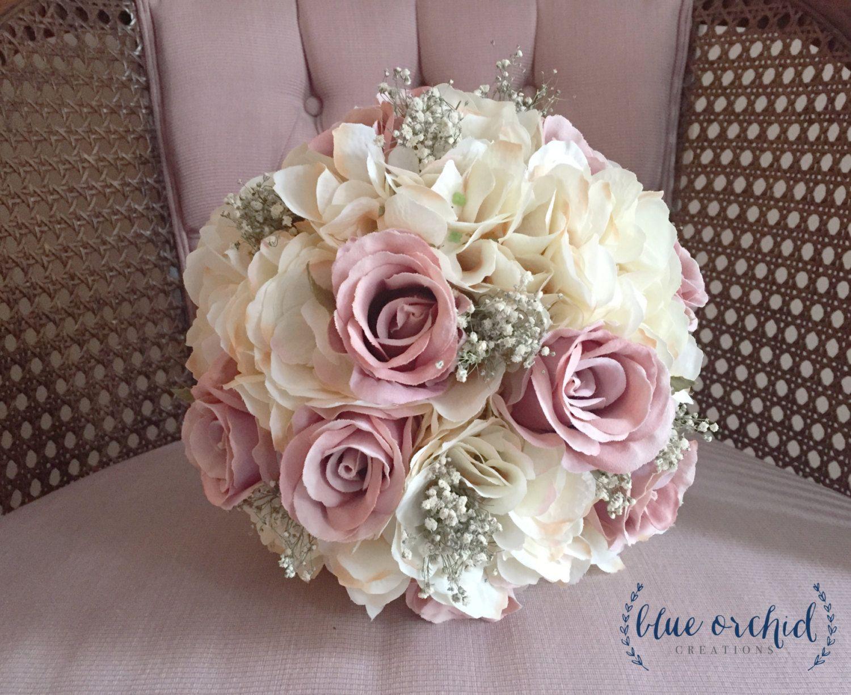 silk rose wedding bouquets photo - 1