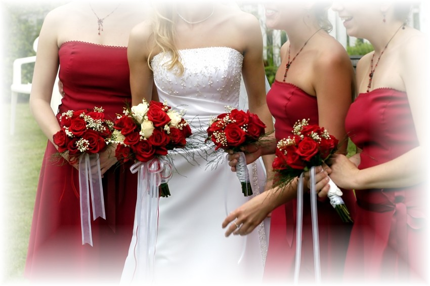 silk wedding bouquets cheap photo - 1