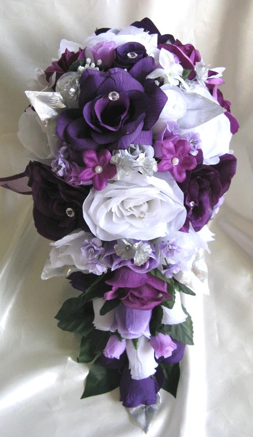 silk wedding flowers bouquet photo - 1
