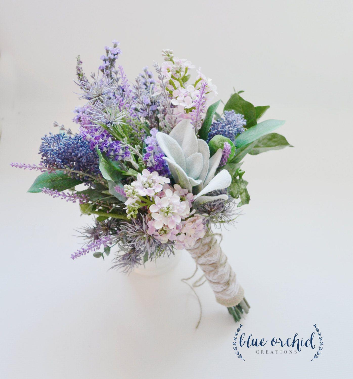 silk wildflower wedding bouquets photo - 1