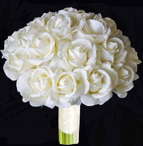 silk yellow rose wedding bouquets photo - 1