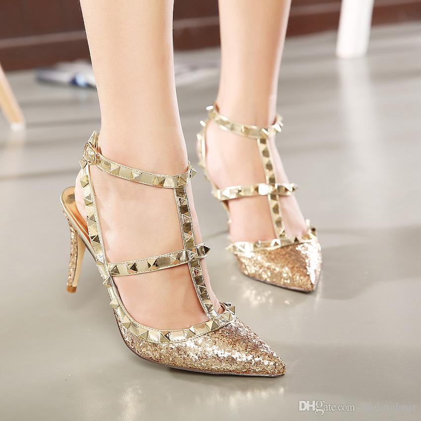 silver metallic shoes wedding photo - 1