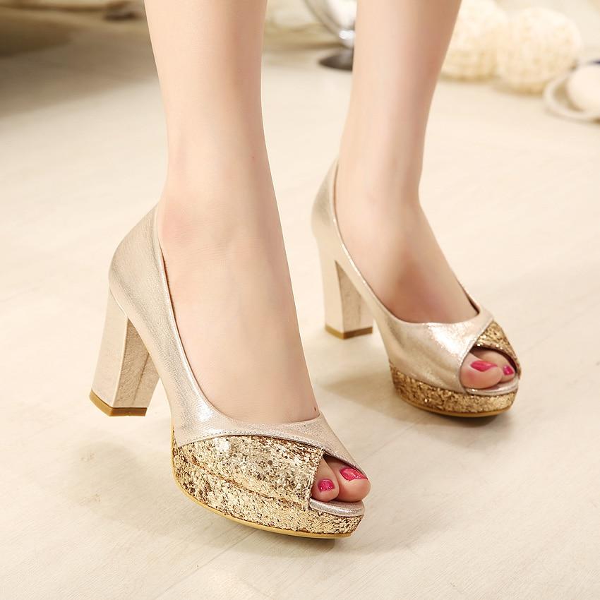 silver open toe shoes wedding photo - 1