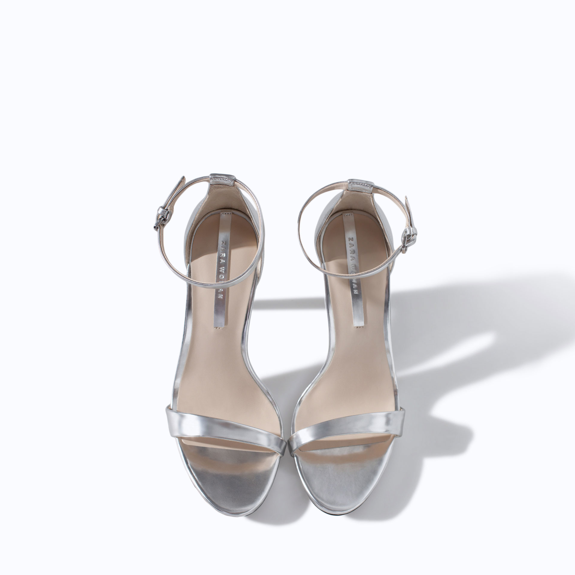 silver sandal wedding shoes photo - 1