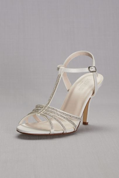 silver shoes for wedding low heel photo - 1