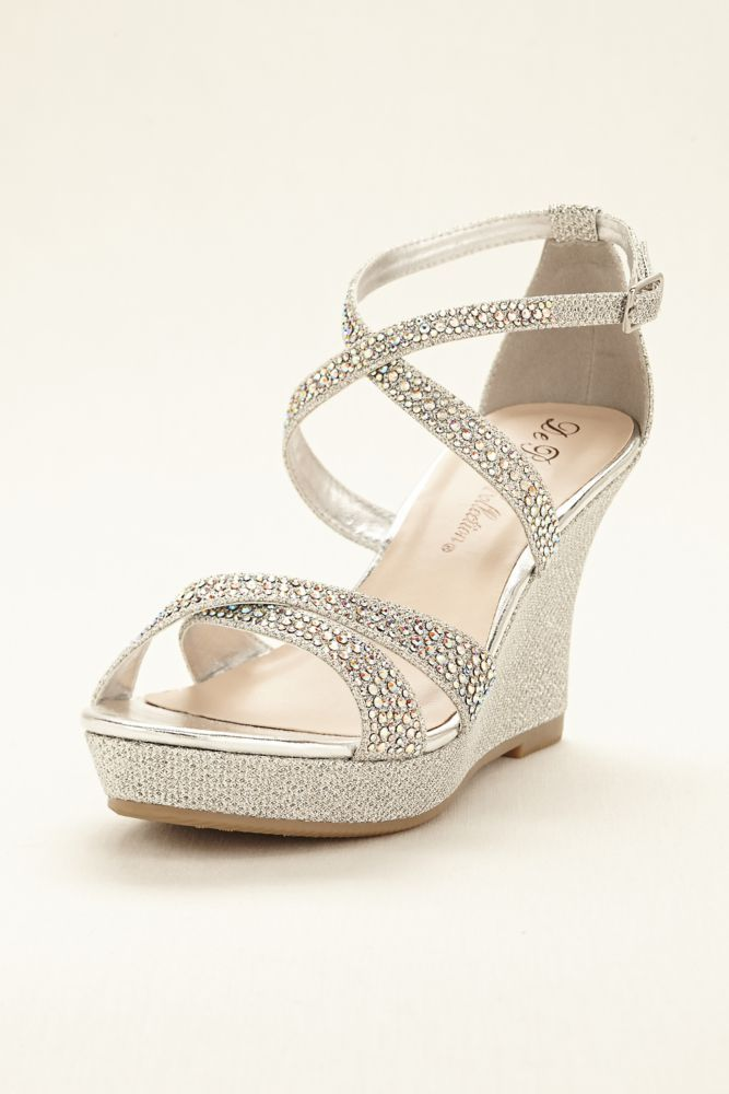 silver wedges shoes wedding photo - 1