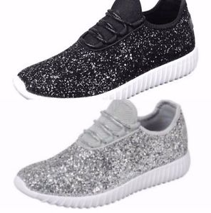 sparkle tennis shoes for wedding photo - 1
