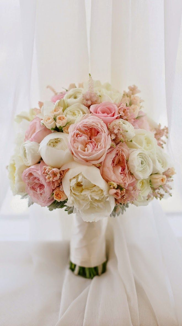 spring flower bouquets for wedding photo - 1