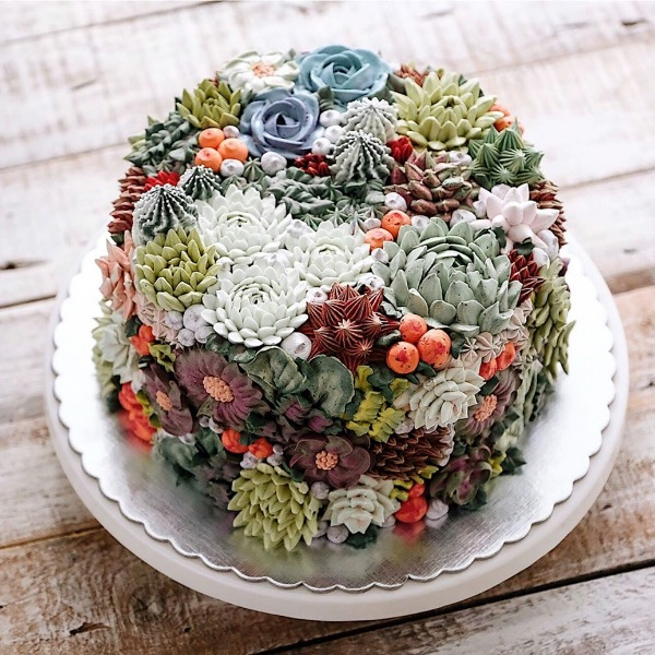 succulents wedding flowers photo - 1
