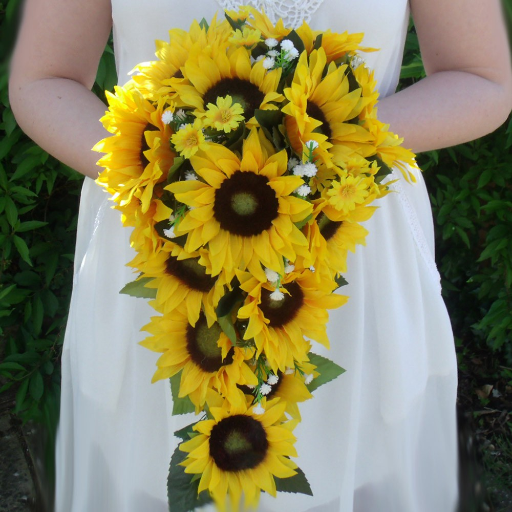 sunflower wedding bouquets for sale photo - 1