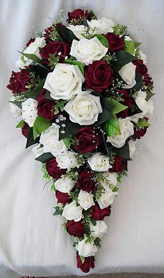 teardrop bouquets wedding photo - 1