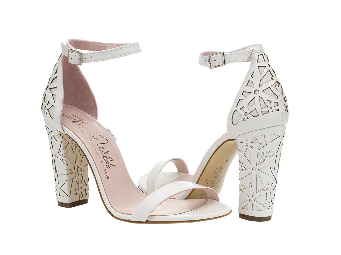 thick heel wedding shoes photo - 1