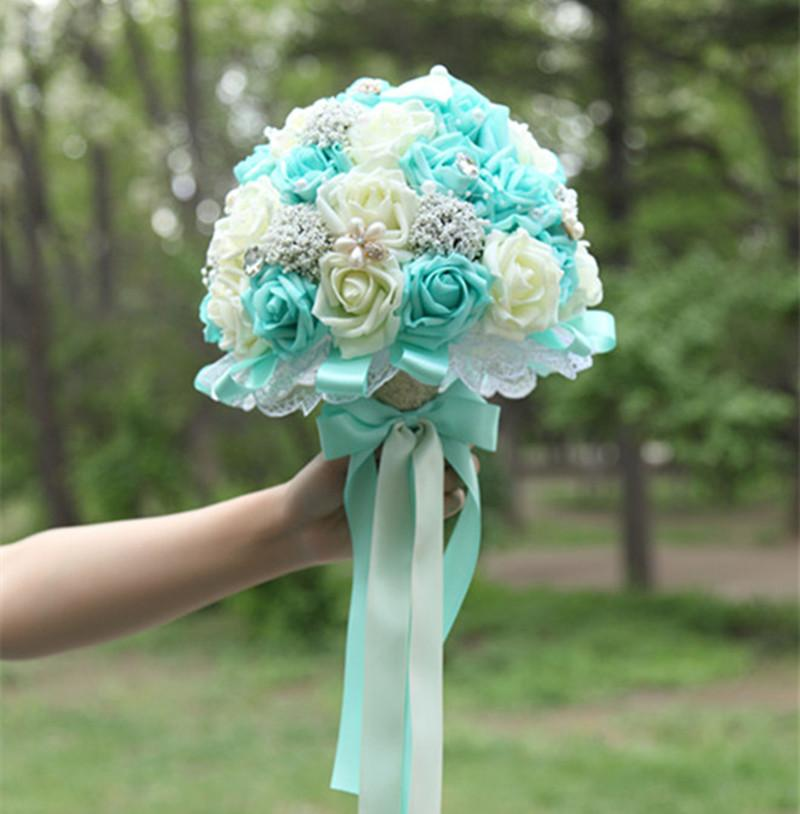 tiffany blue wedding bouquets photo - 1