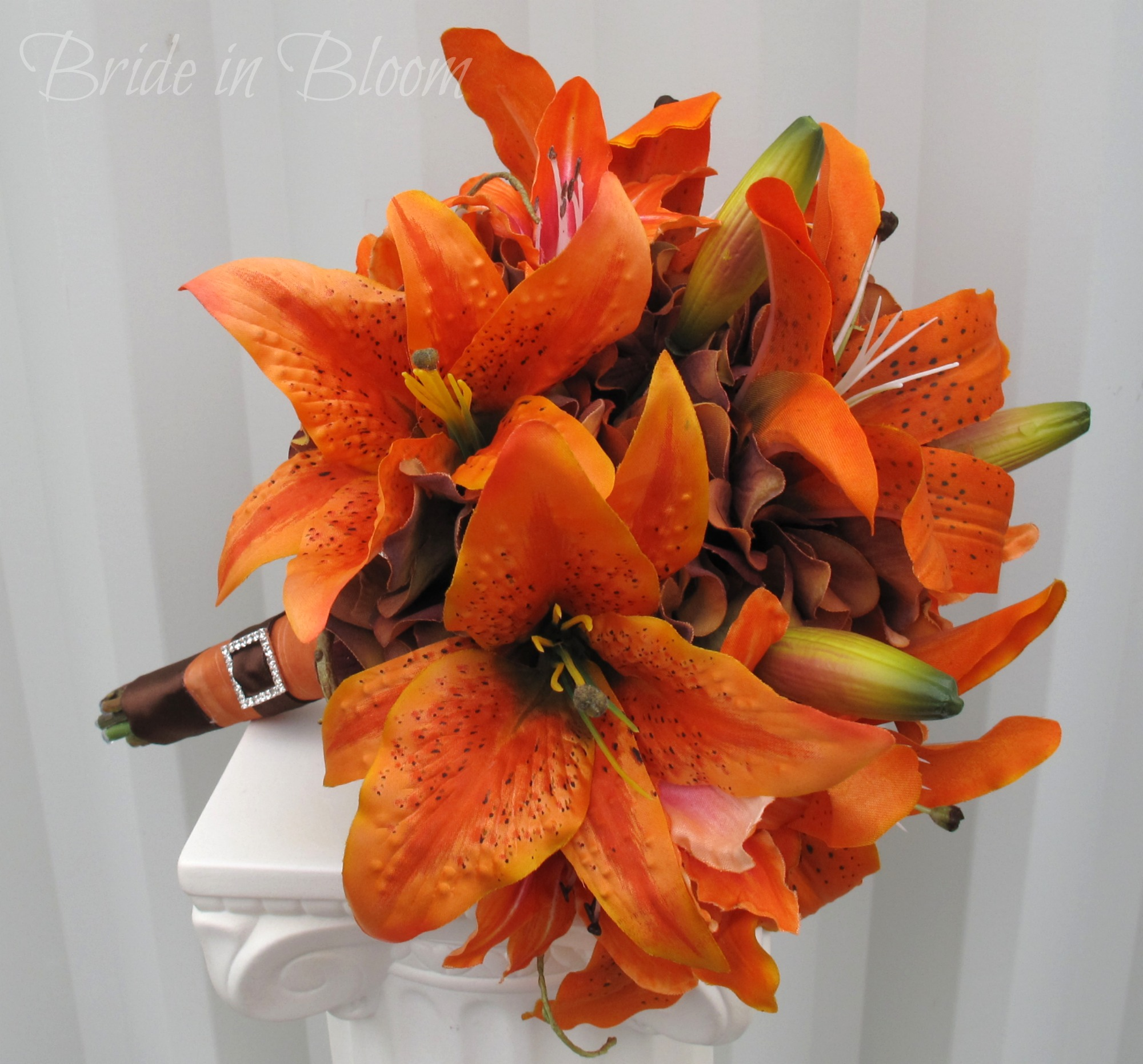 tiger lily wedding bouquet photo - 1