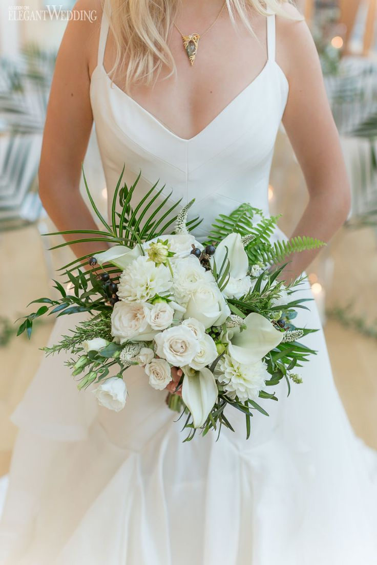 tropical bouquets wedding photo - 1