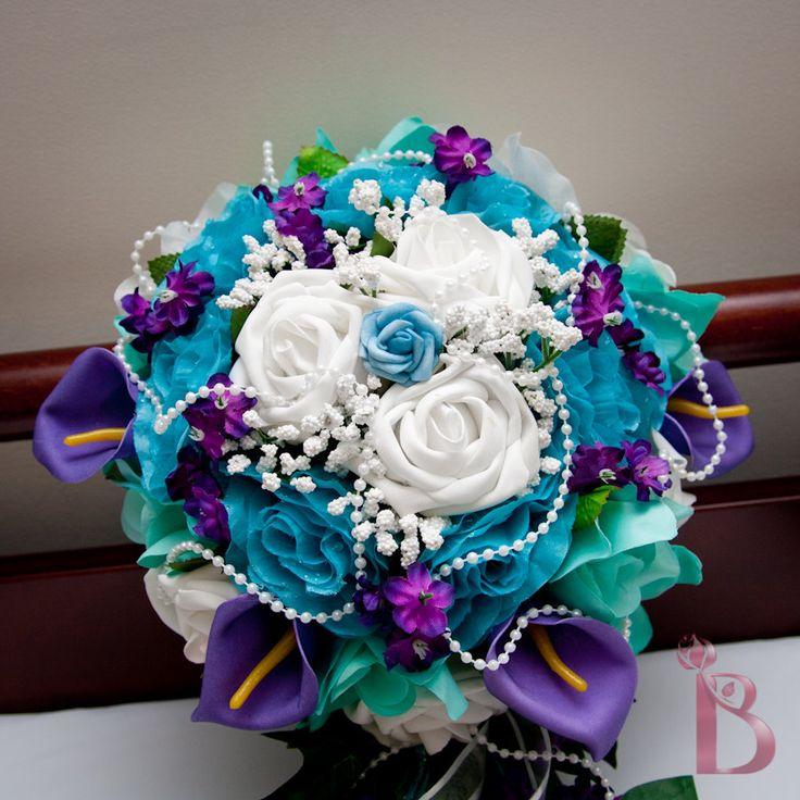 Turquoise And Purple Wedding Bouquets Florida Photo Magazine Com