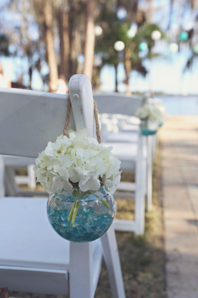 turquoise wedding flowers photo - 1