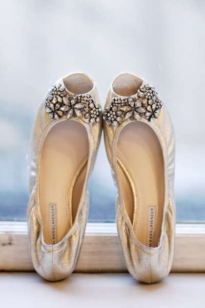 vera wang lavender shoes wedding photo - 1