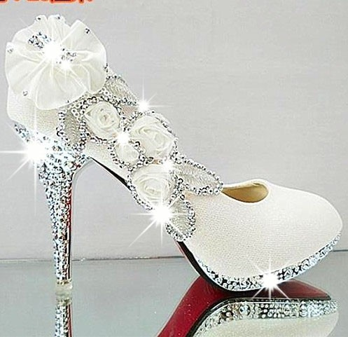 vintage white wedding shoes photo - 1