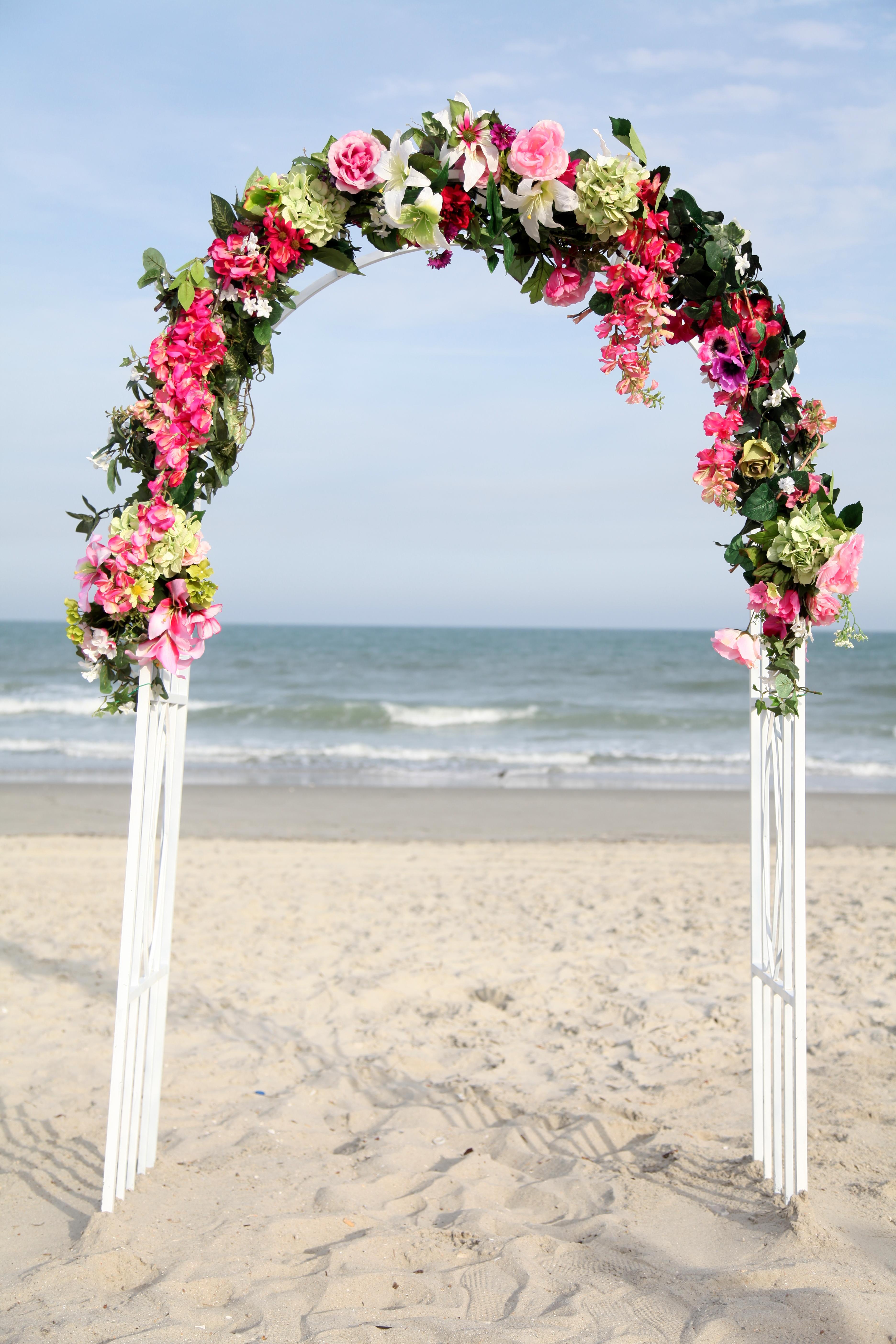 wedding arbor flowers photo - 1