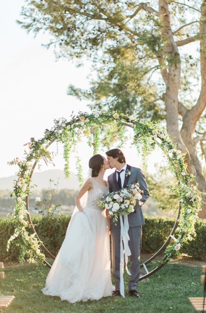 wedding arches with flowers photo - 1