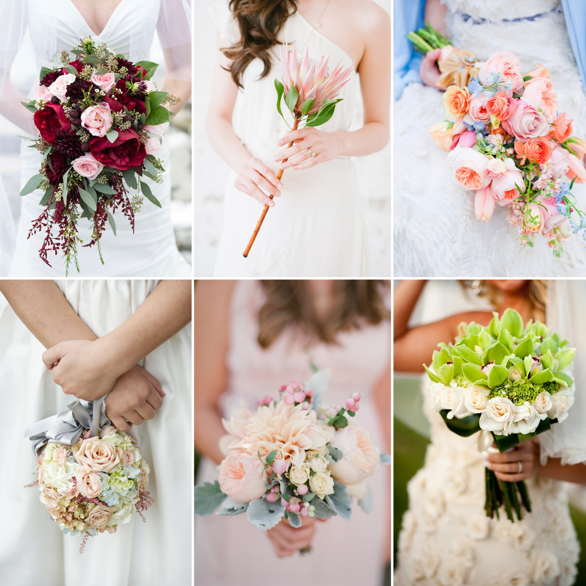 wedding bouquet flower types photo - 1