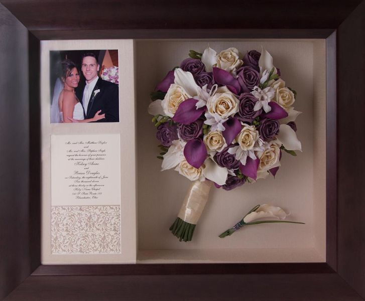 wedding bouquet shadow boxes photo - 1