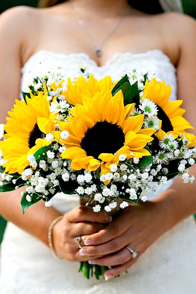 wedding bouquet with sunflowers photo - 1
