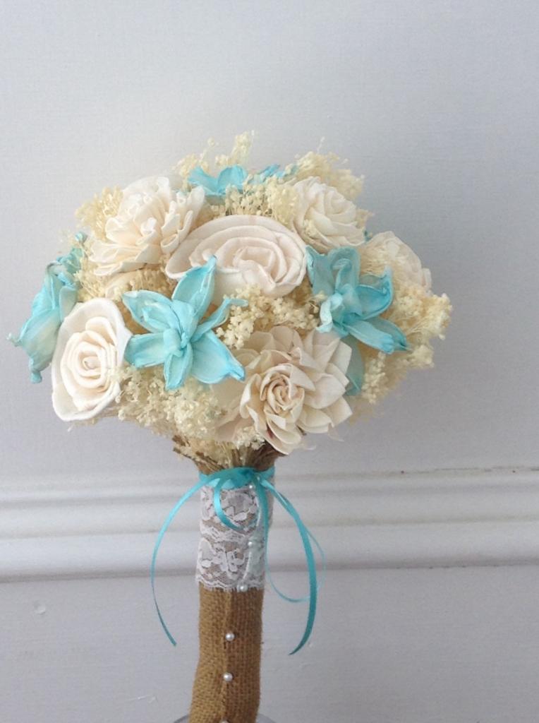wedding bouquets beach theme photo - 1