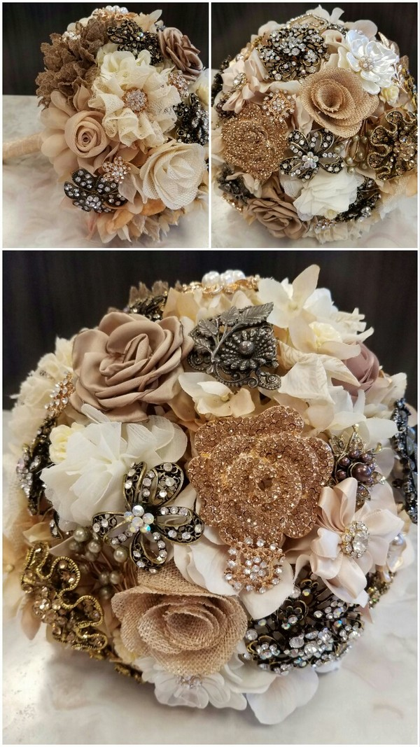wedding bouquets by color photo - 1