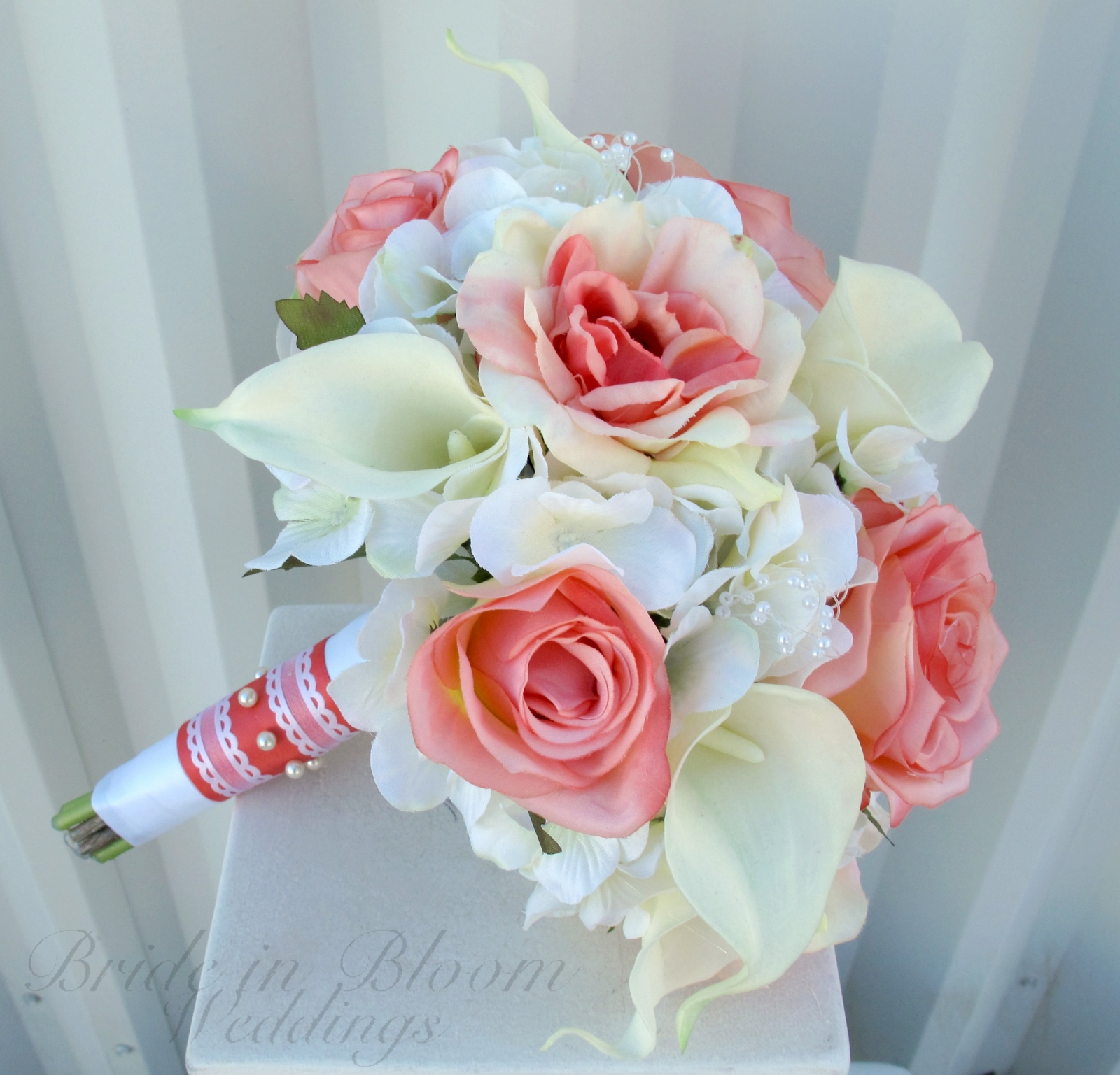 wedding bouquets coral photo - 1