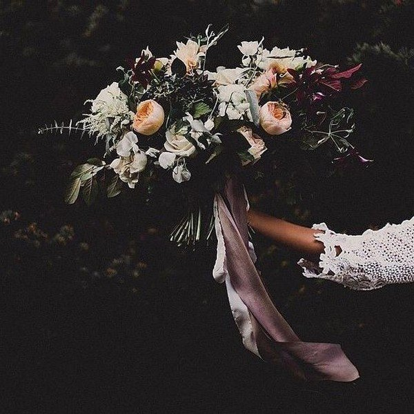 wedding bouquets fall colors photo - 1