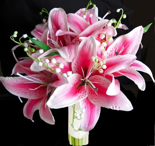 wedding bouquets lilies and orchids photo - 1