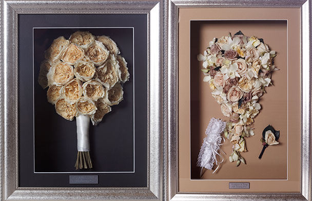 wedding bouquets pressed and framed photo - 1