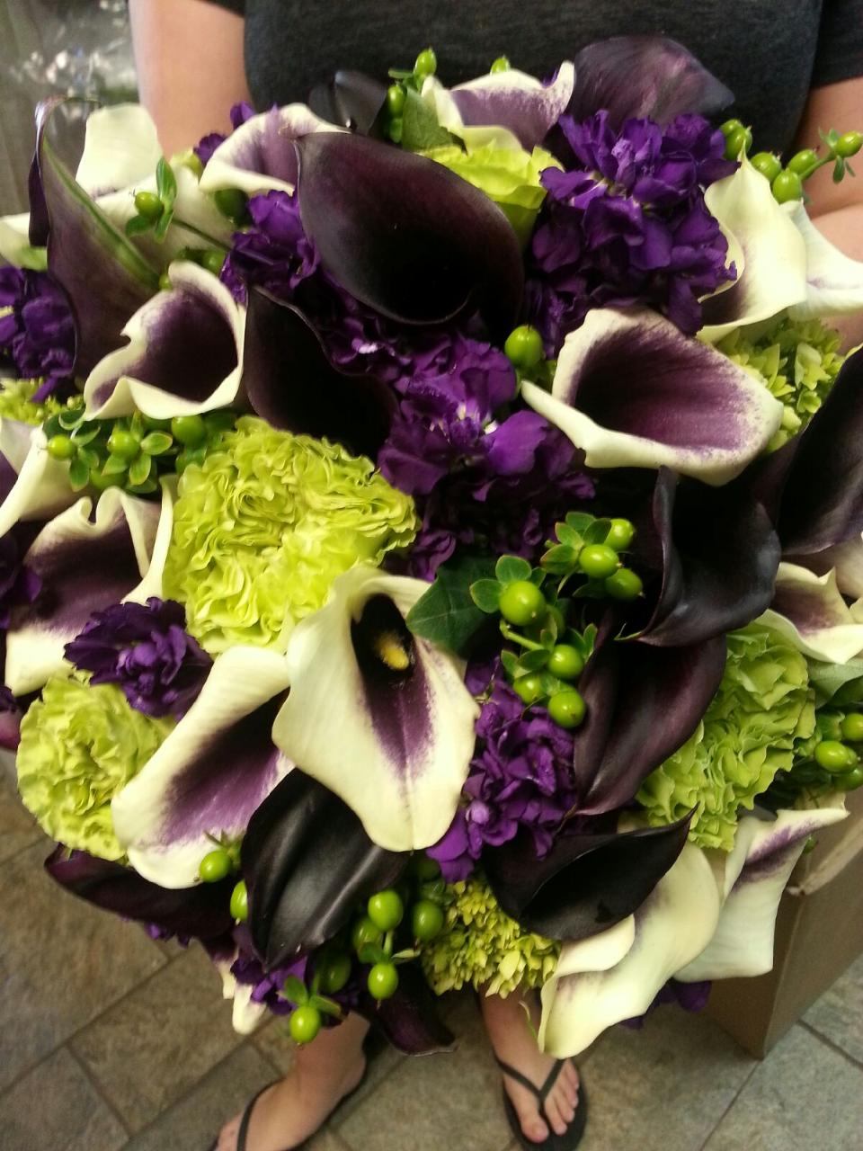 wedding bouquets purple lilies photo - 1