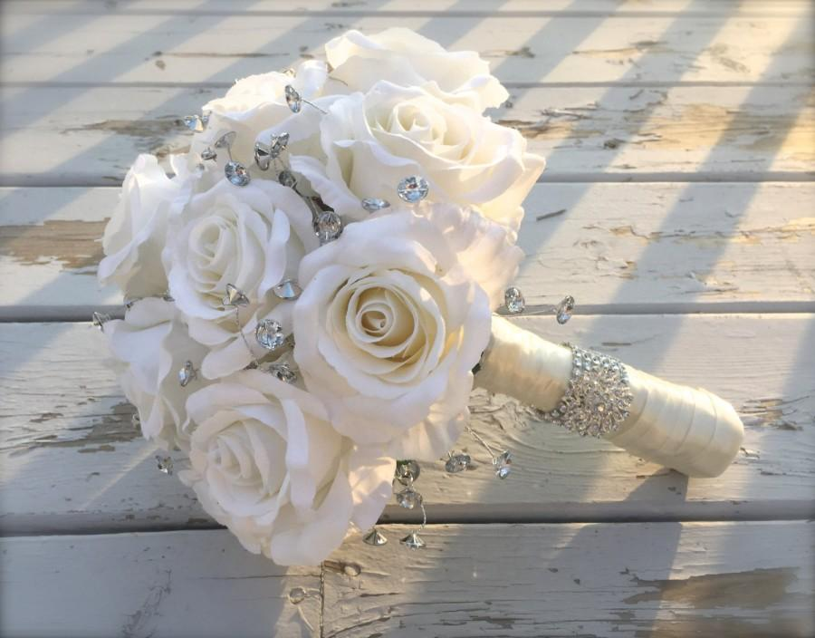 wedding bouquets with bling photo - 1