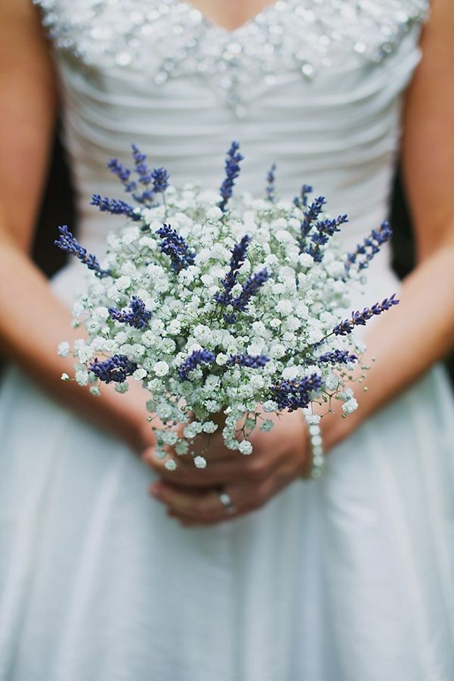 wedding bouquets with lavender photo - 1