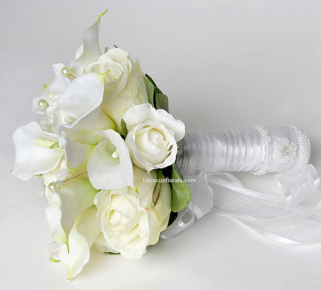 wedding bouquets with lilies and roses photo - 1