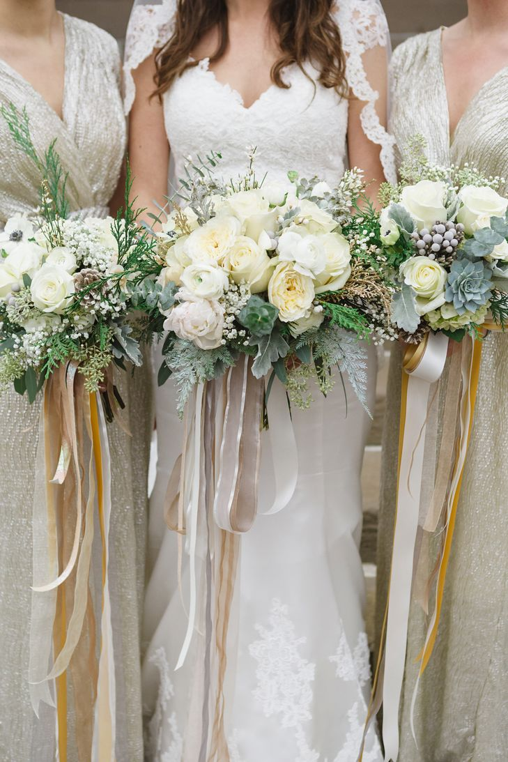 wedding bouquets with ribbons photo - 1