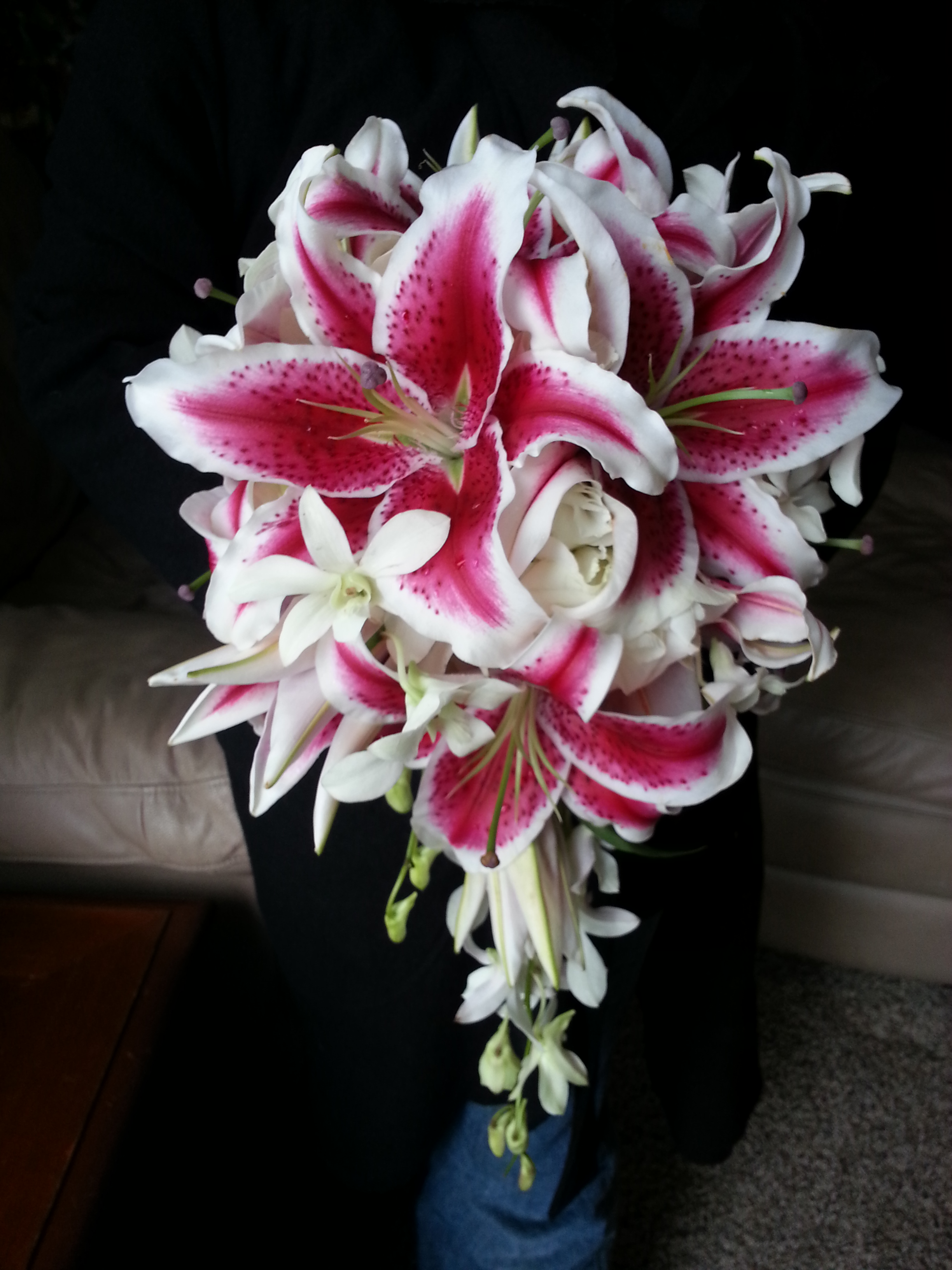 Wedding Bouquets With Stargazer Lilies Florida Photo Magazine Com