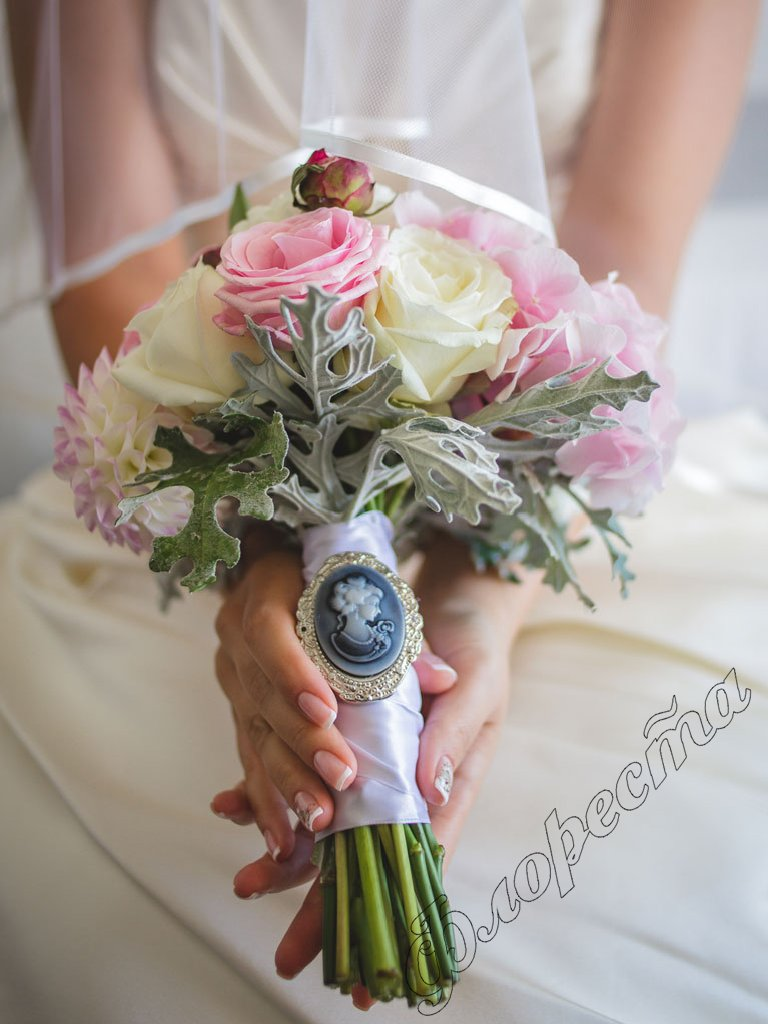 wedding bridal bouquet photo - 1