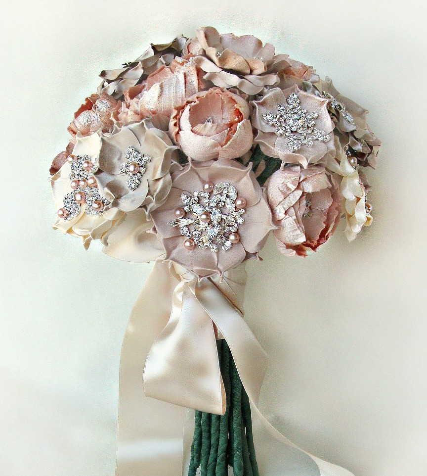 wedding brooch bouquets photo - 1