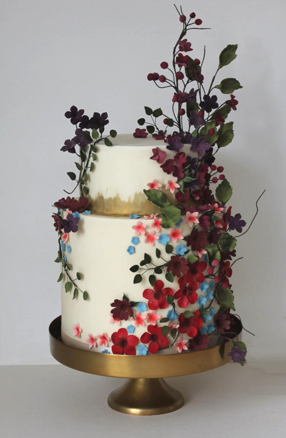 wedding cakes flower photo - 1